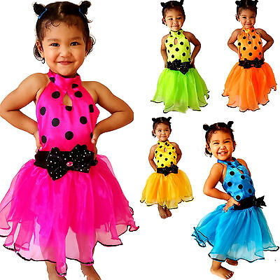 Mini Dot TUTU Kleid für Kinder Mädchen Kostüm/Fasching/Cosplay Dress Gr. 98-170