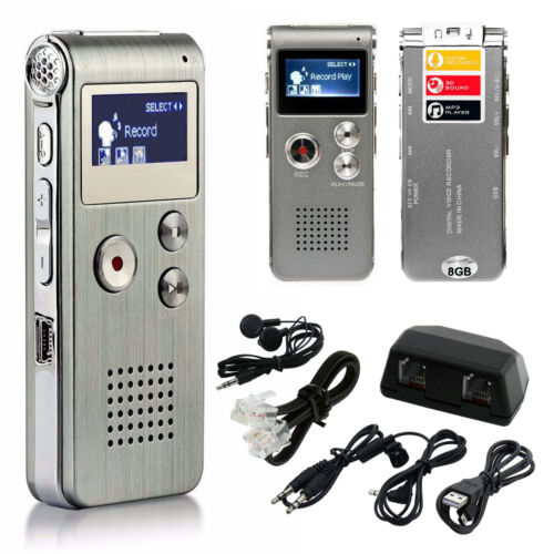 Изображение товара Digital Audio Voice Sound Recorder MP3 Player 8GB 650 hr Rechargeable Dictaphone