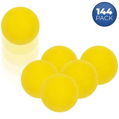 1 1/4 Mini Ping Pong / Table Tennis / Beer Pong Round Yellow Balls – 31mm 144pk Balls