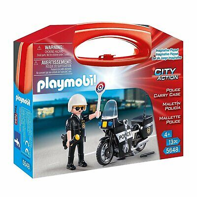 Playmobil City Action Police Carry Case Building Set 5648 NEW Learning Toys