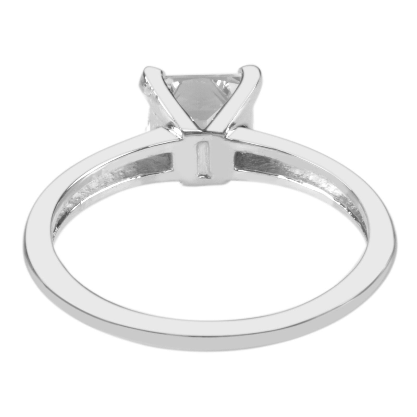 1.85 Carat Princess Shape Solitaire Women's Wedding Ring - 925 Sterling Silver 1