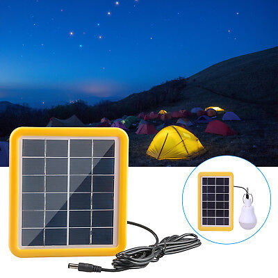 2W 6V Cell Solar Panel Module Battery Charger Boat Camping with 3m Cable Kit