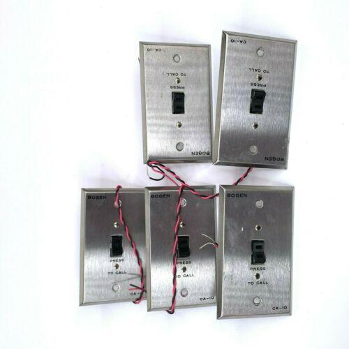 Lot of 5 Bogen CA-10 Emergency Press To Call Intercom Switch