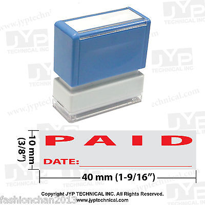 Jyp Pa1040 Pre-inked Rubber Stamp With Paid And Date