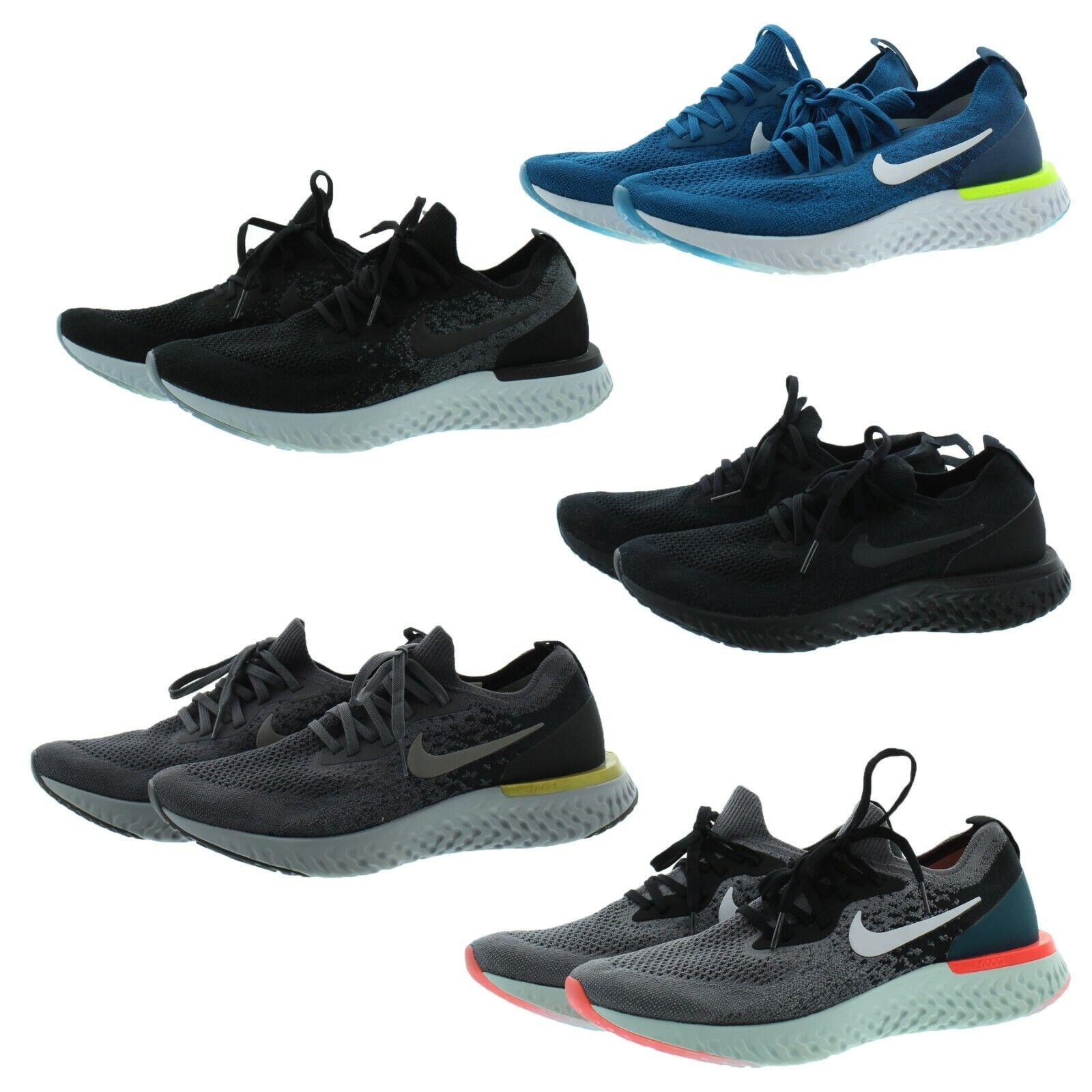 buy popular 9ec9c dabe3 Nike AQ0067 Men's Epic React Flyknit Athletic Running Low Top Shoes Sneakers