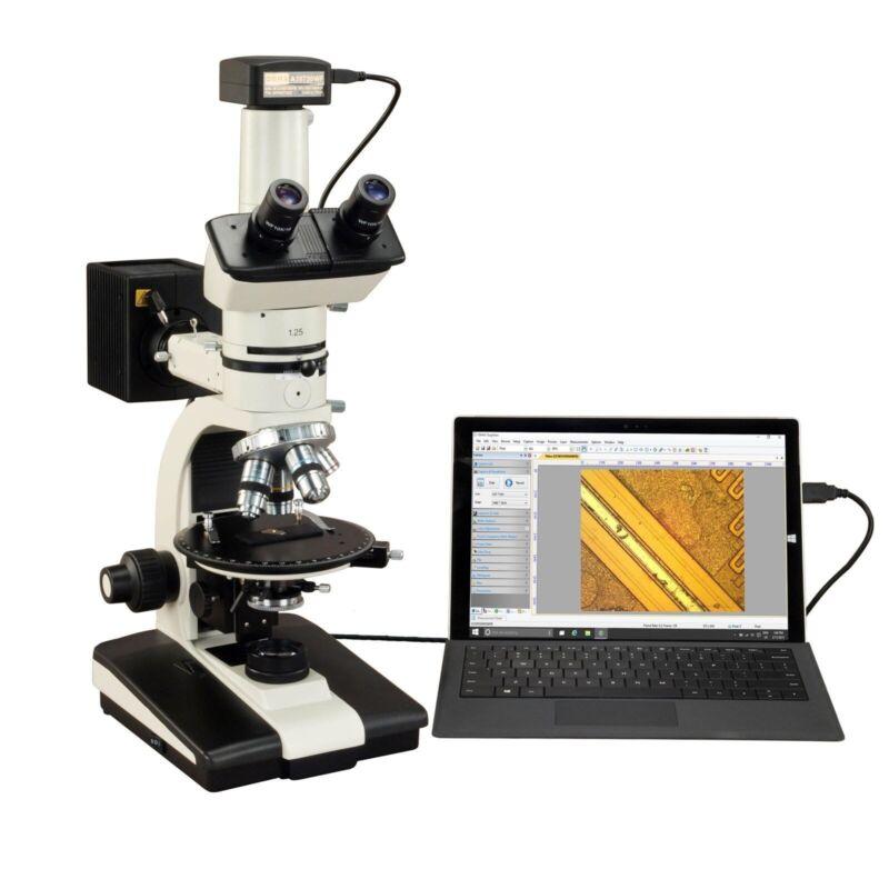 OMAX 50X-787.5X 10MP USB3 Ore Petrographic Polarizing Microscope + Bertrand Lens