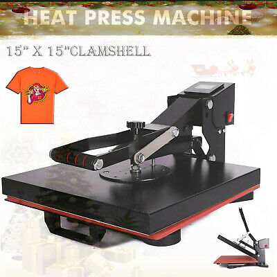 15 X 15 Clamshell Heat Press Machine Diy T-shirt Sublimation Digital Transfer