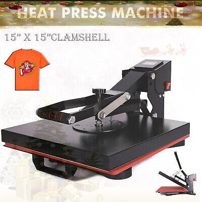 15 X 15 Clamshell Heat Press Machine Diy T-shirt Sublimation Digital Transfer