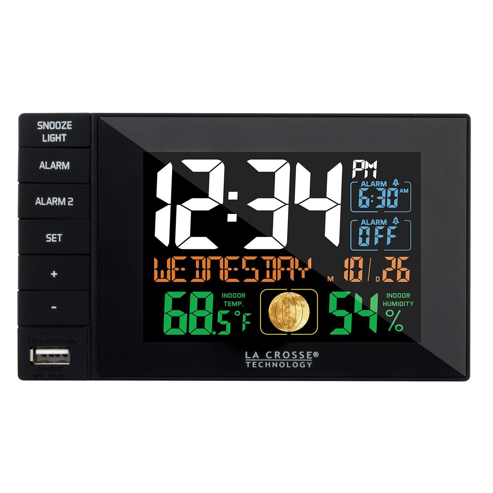 La Crosse Technology C87207 C87061 Color Dual Alarm Clock wi