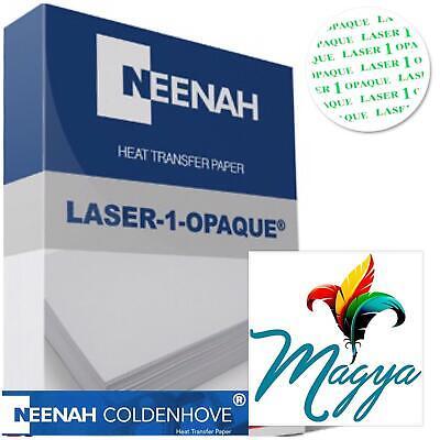 Laser 1 Opaque Dark Shirt Heat Press Machine Transfer Paper 8.5 X 11 -10 Sheets