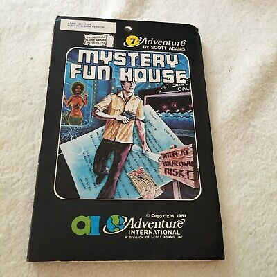 Mystery Fun House - Scott Adams Adventure International - Atari - Very Rare
