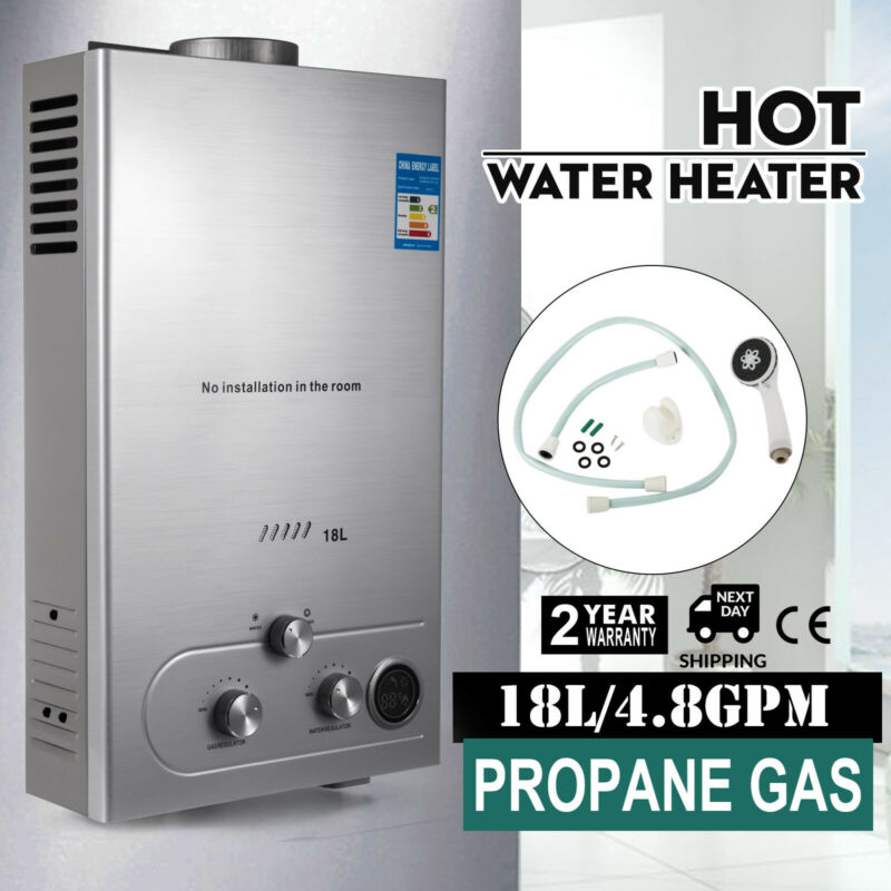 5GPM 18L Hot Water Heater Propane Gas Instant Tankless Boiler LPG