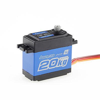 Power HD LW-20MG 25T High-Torque Metal Gears Waterproof Servo 20kg/0.16S 6.6V