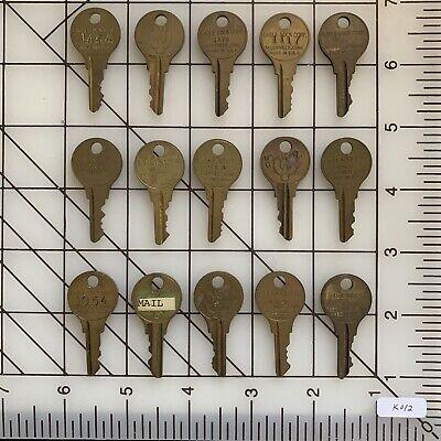 K012 - 15 PCS Mixed Circle End Oxidized Brass Metal Vintage Keys Craft