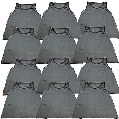 12 SCRIMMAGE VESTS PINNIES SOCCER ADULT GRAY GREY ~ NEW!