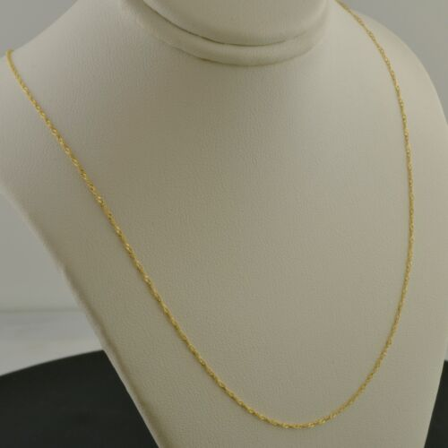 10K YELLOW GOLD .7MM SINGAPORE 14 INCH PENDANT CHAIN NECKLACE