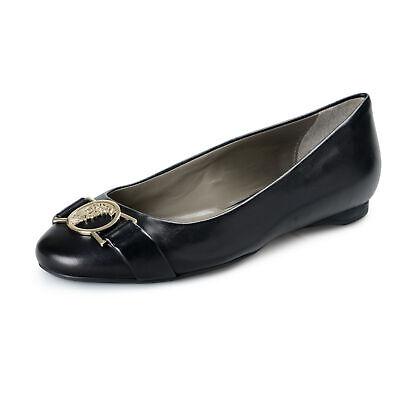 Versace Collection Women's Black Leather Ballets Flat Shoes Sz 5 6 7 8 9 10 11