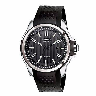 Citizen Eco-Drive Men's AW1150-07E AR 2.0 Black Poly Strap Sport 44mm Watch