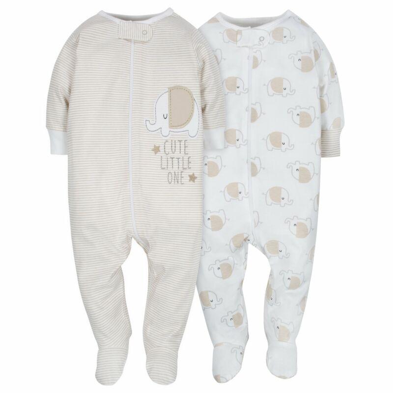 Gerber Baby Unisex 2-Pack Neutral Elephant Sleep N