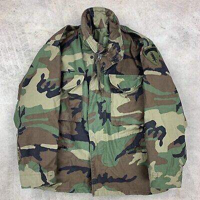 USGI M-65 Field Jacket Small X-Short Woodland Camo BDU Cold Weather Army Coat