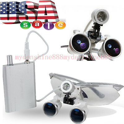 Aaaaa Magnification 3.5 Dental Surgical Binocular Loupes Glasses Led Head Light