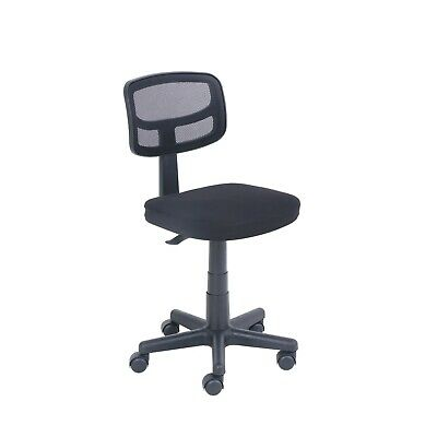 Office Desk Task Chair Mesh Computer Rolling Armless With Plush Padded Seat