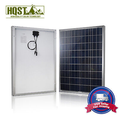 HQST 100W Watts Solar Panel 12V Poly Off Grid Battery Charger for RV Rowing-boat