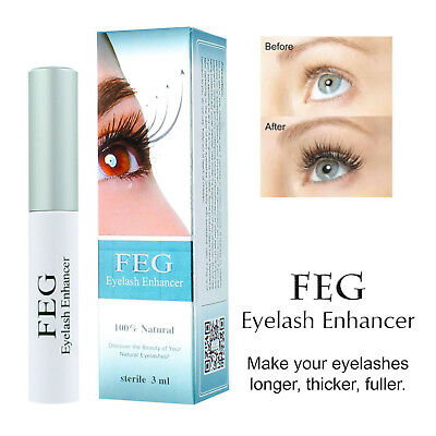 FEG Eyelash Enhancer Rapid Growth Serum -100% Natural - USA Super Fast Shipping!