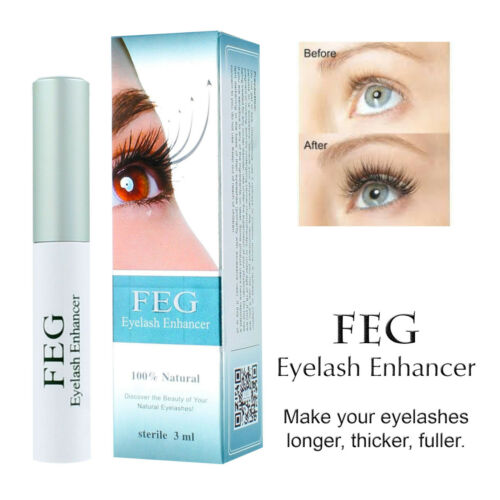 FEG Eyelash Enhancer Rapid Growth Serum -100% Natural - USA Super Fast Shipping!