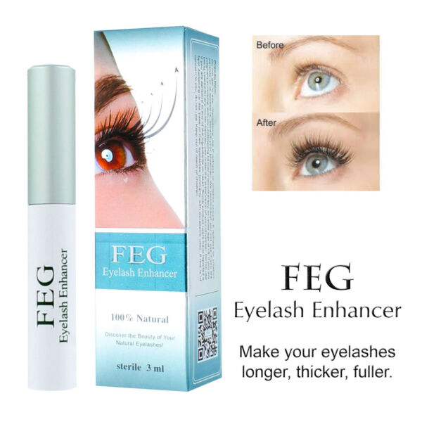FEG Eyelash Enhancer Rapid Growth Serum -100% Natural - USA Super Fast Shipping! 1