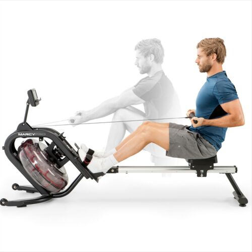 Water Rowing Machine Indoor Water Rower | Marcy NS-6023RW Cardio Exercise