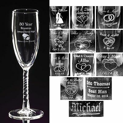 Personalized Toasting Flutes - Champagne Glasses Engraved Groomsmen Bridesmaids - Personalized Champagne Glasses