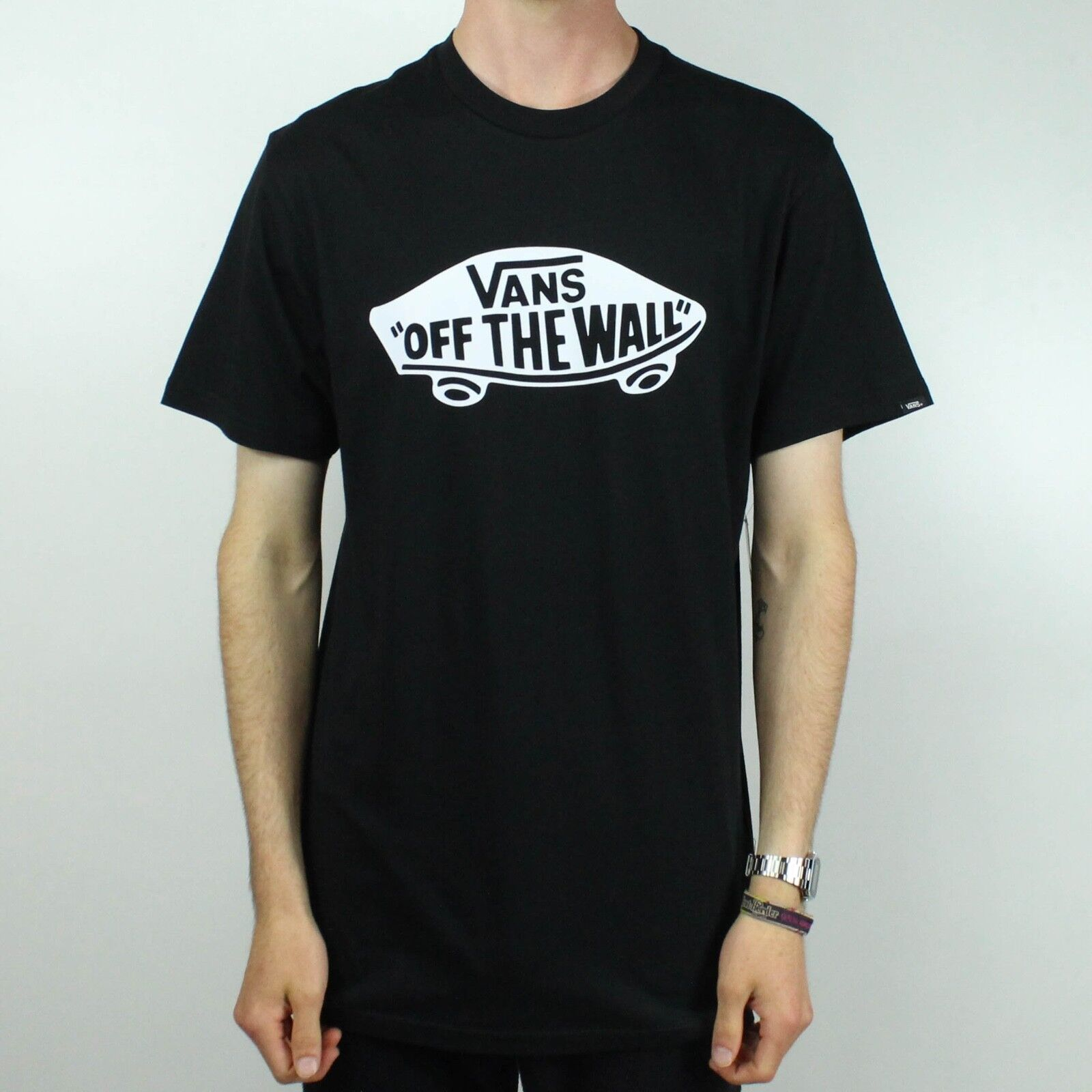e8d8f17828 Details about Vans Off The Wall T-Shirt Brand New - Black - Size S