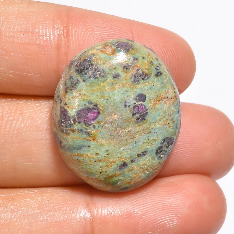 Natural Ruby Fuchsite Oval Cabochon Loose Gemstone 30.5 Ct. 25X21X7 mm EE-19010