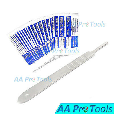 10 Scalpel Blades 15 3 Metal Handle For Dermaplaning Dental Medical Crafts