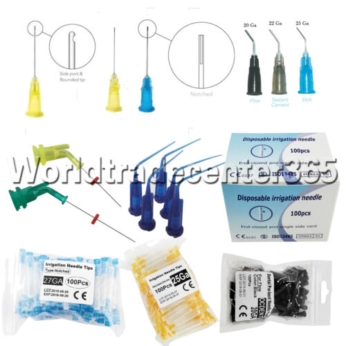 Dental Irrigation Endodontic Needle Notched Syringes Tips En