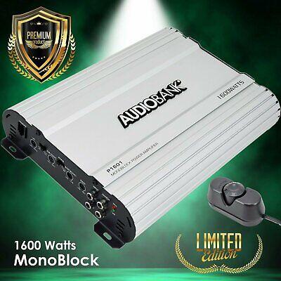 Audiobank Monoblock 1600 WATTS Amp Class AB Car Audio Stereo Amplifier P1601