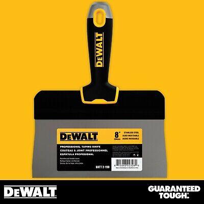Dewalt Taping Knife 8 Stainless Steel Big Back Drywall Taping Tool