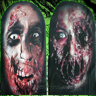 Mens Horror Halloween Costumes Uk (Zombie stretch scary mask Halloween Party Horror Props Devil CREEPY Bloody)