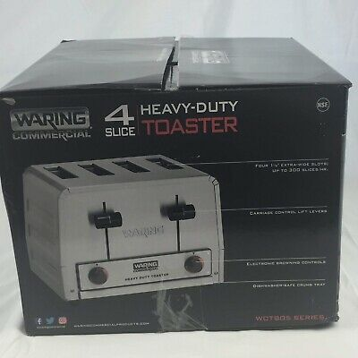 New Commercial Waring Wct805 4 Slice Heavy Duty Pop-up Toaster 208v