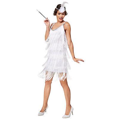 20er Jahre Kleid Kostüm (Frauenkostüm Charleston 20er Jahre Kostüm Flapper Fransenkleid Carneval Hallowee)