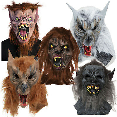 Werewolf Wearwolf Wolf Dog Halloween Horror Scary Mask Fancy Dress Costume