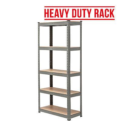 5 Tier Heavy Duty Boltless Metal Grey Shelving Storage Unit Shelves Garage Home