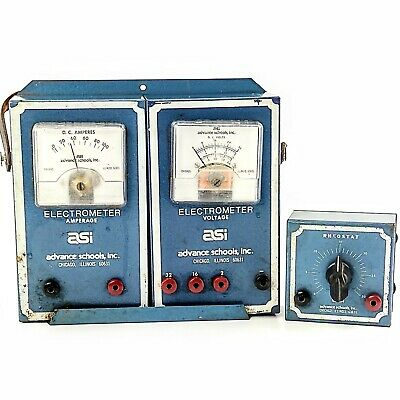 Vintage Asi Electrometer Voltage Amperage Rheostat Test Meter Tool Electric