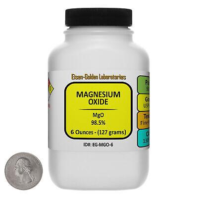 Magnesium Oxide Mgo 98.5 Usp Food Grade Powder 6 Oz In A Bottle Usa