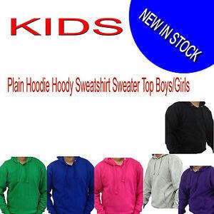 KIDS-Plain-Hoodie-Hoody-Sweatshirt-Sweater-Top-Jumper-Boys-Girls