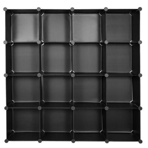 Cube Storage 16 Cube Modular Shelf DIY Closet Cabinet Wardrobe Bookshelf Closet Organizers