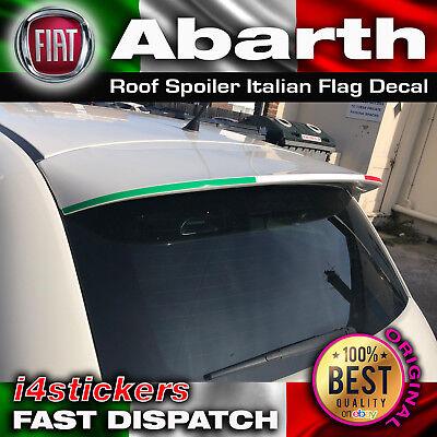 FIAT 500 Abarth Roof Spoiler Italian Flag Decal Set. 500c 595c d'occasion  Expédié en Belgium