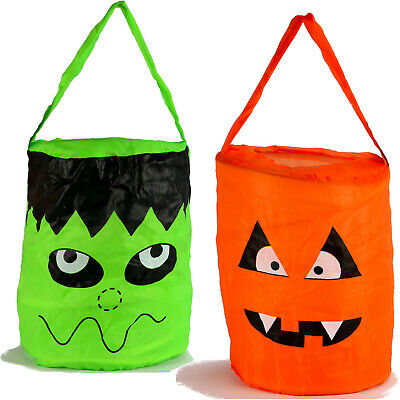 Halloween Pop-up Tasche Monster für Süßigkeiten Sammeltasche Korb Kinder Beutel