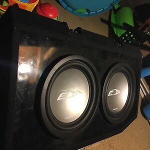 alpine Subwoofer, box, amp and capacitor- great deal!